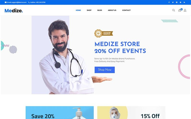 Medize -  Medical & Health WooCommerce Theme