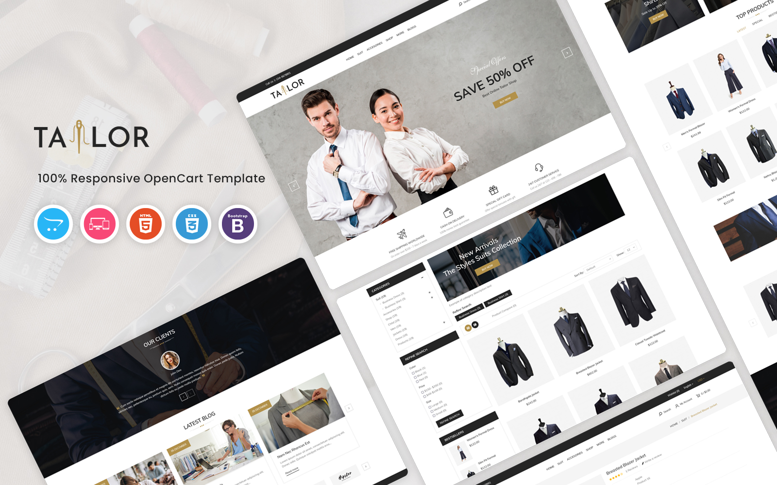 Tailor OpenCart Template