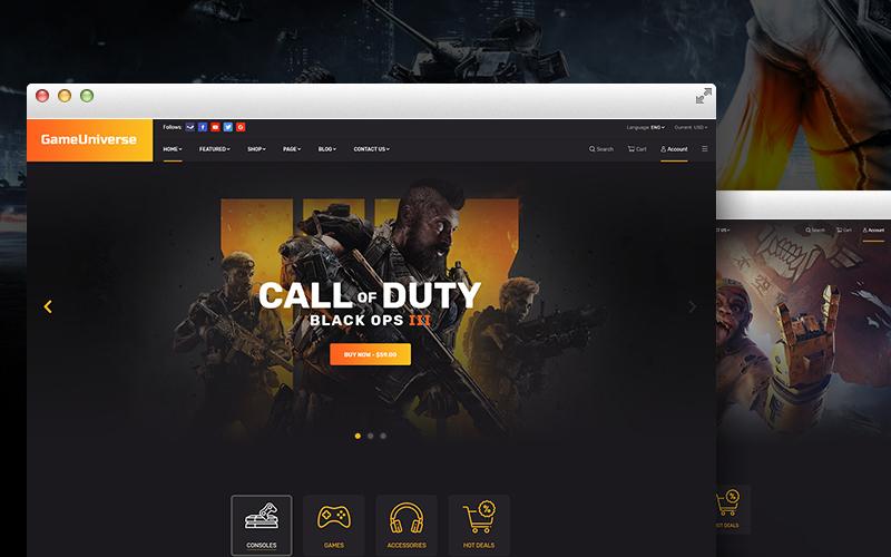 GameUniverse | Game Store Shopify Theme