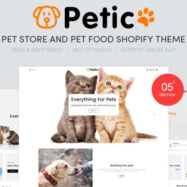 Template Animale de companie Shopify #107576