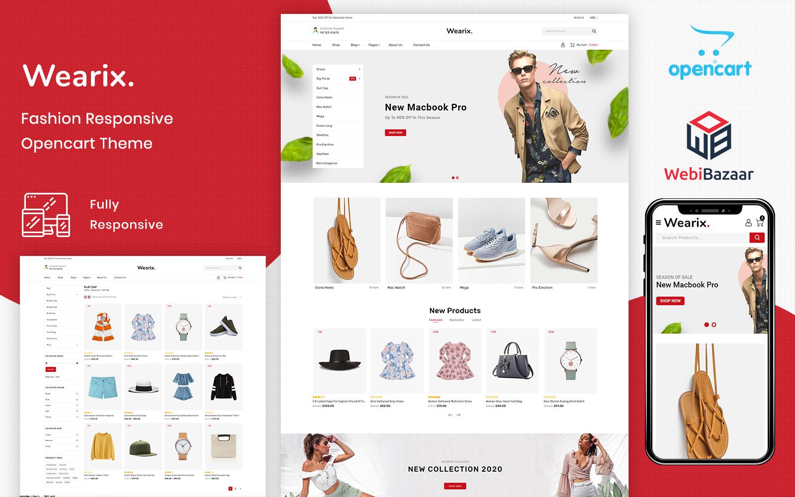 Wearix - Multipurpose Fashion OpenCart Template