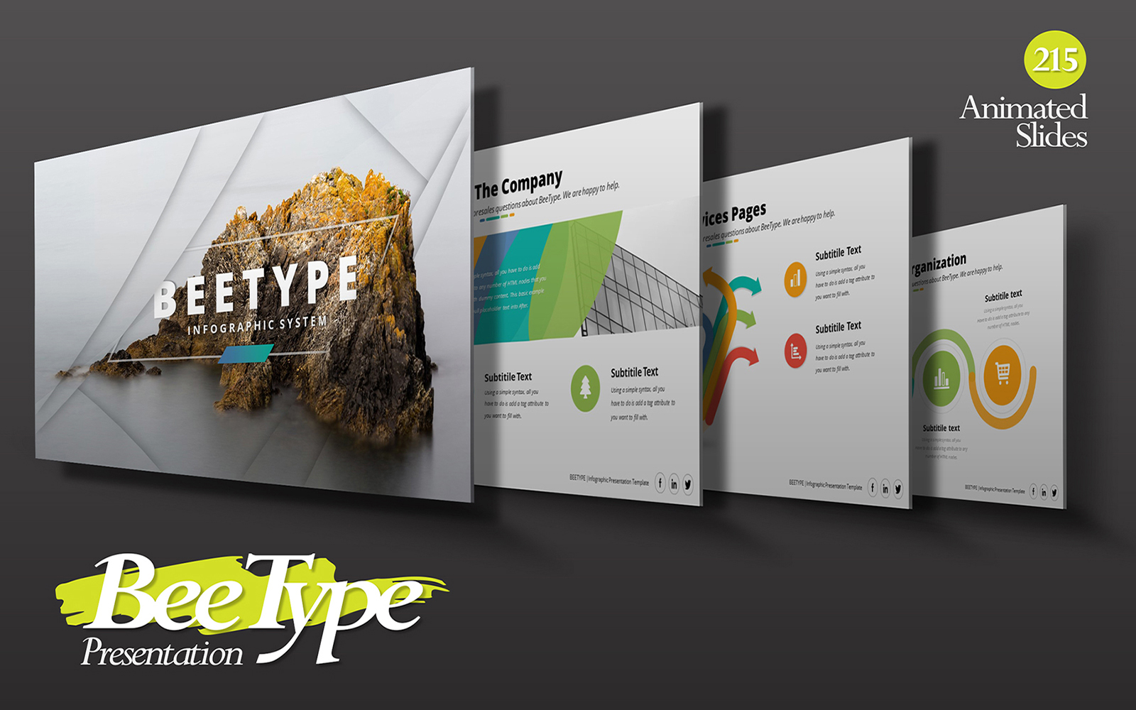 BeeType Corporate Business Presentation PowerPoint Template