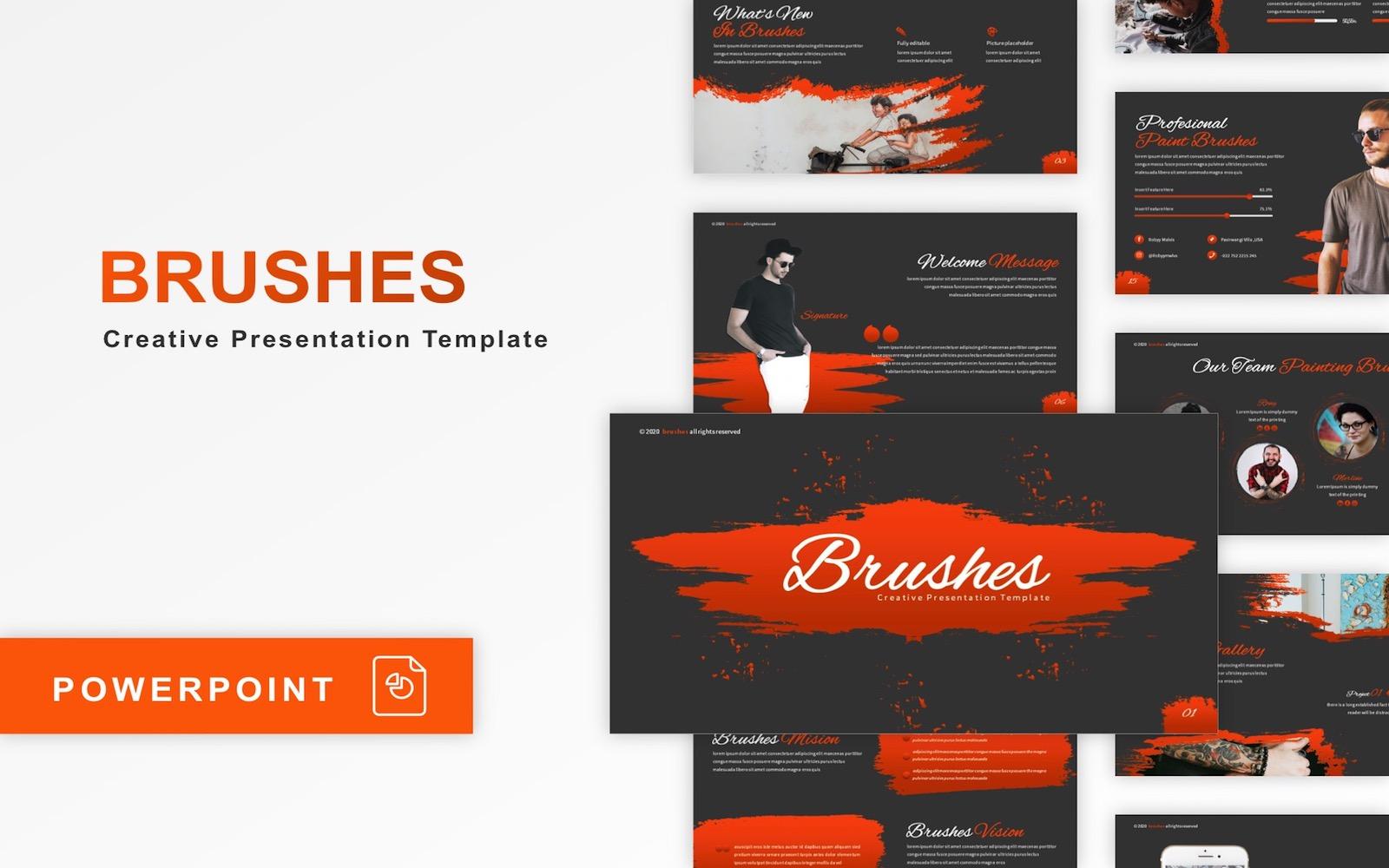 Brushes - Multipurpose PowerPoint Template