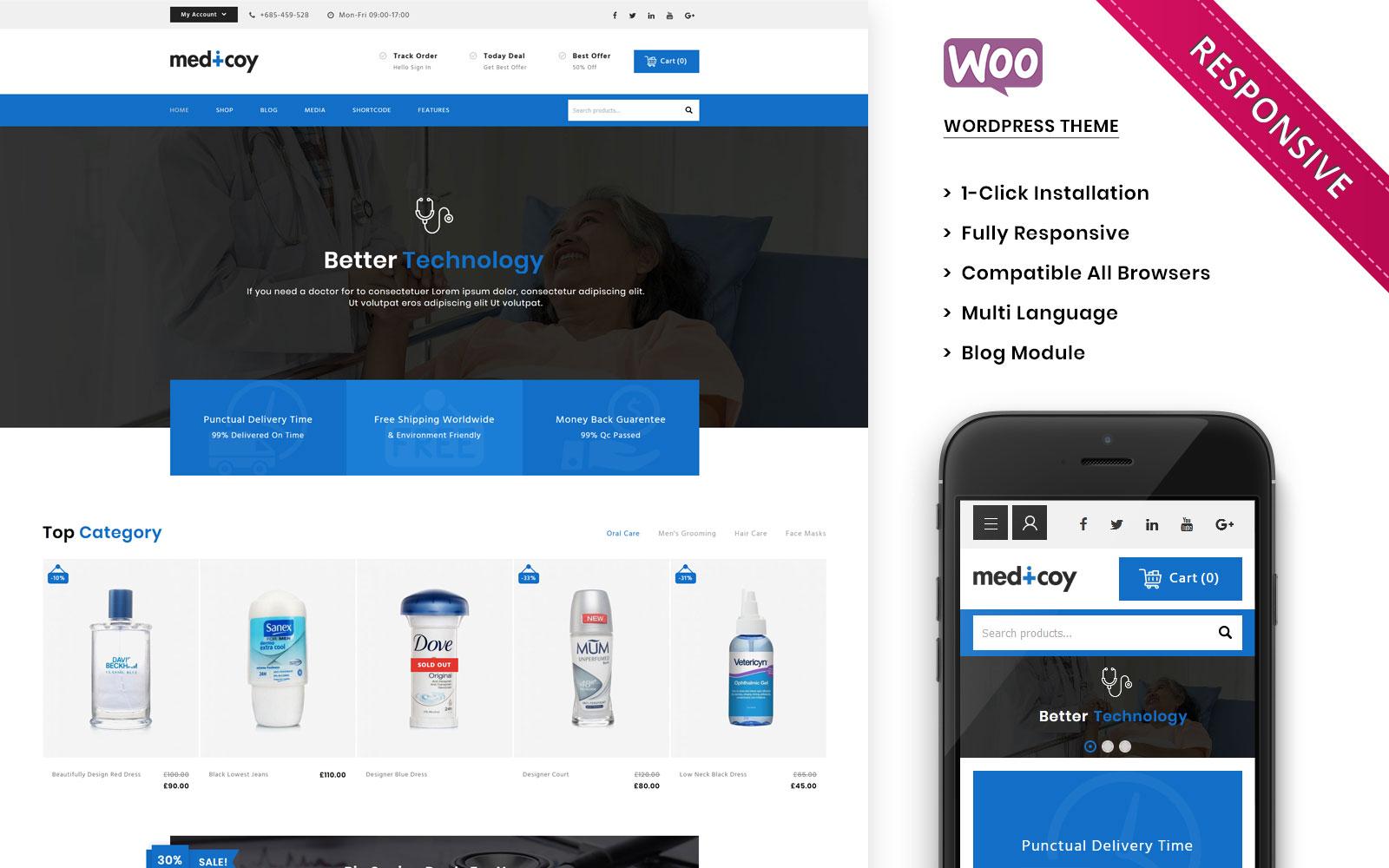 Medicoy - The Medical Store Responsive WooCommerce Theme