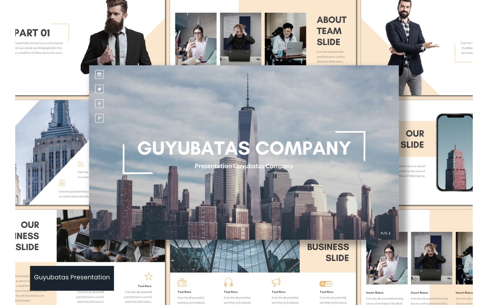 Guyubatas PowerPoint Template