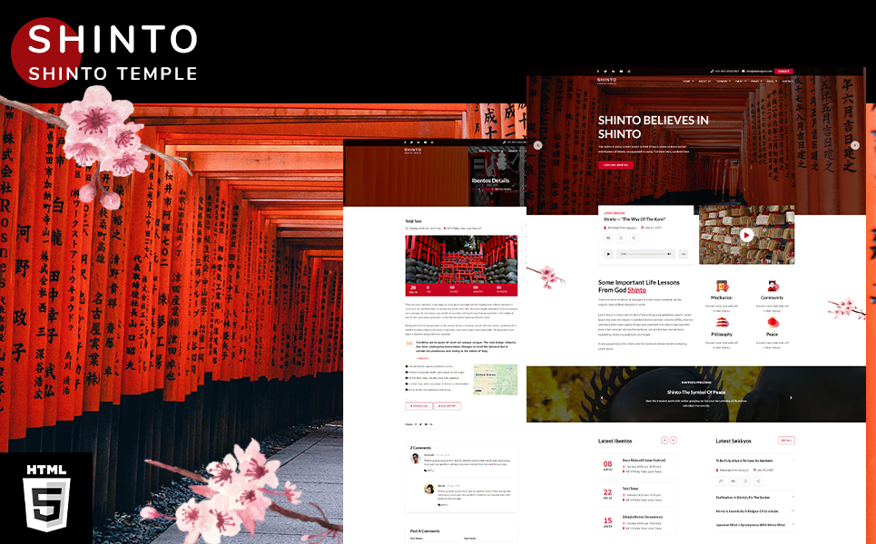 Shinto | kami Religion Temple HTML5 Website Template