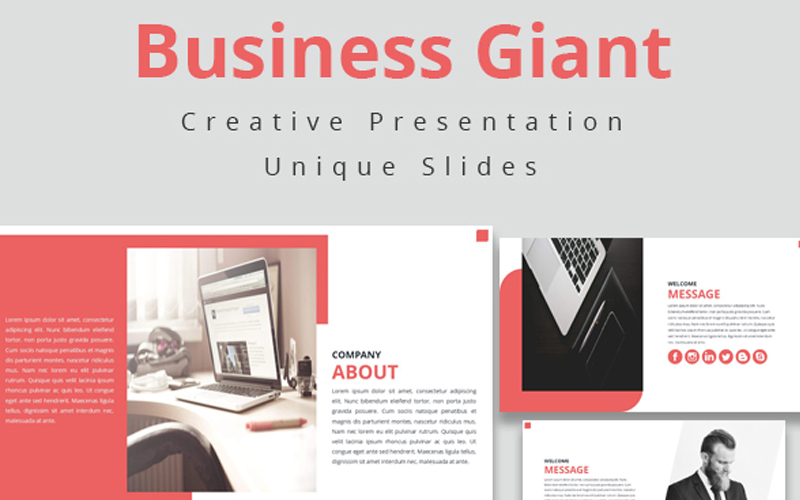Business Giant PowerPoint Template