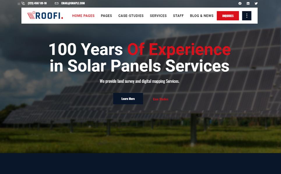Roofi |  Alternative & Renewable Energy WordPress Theme