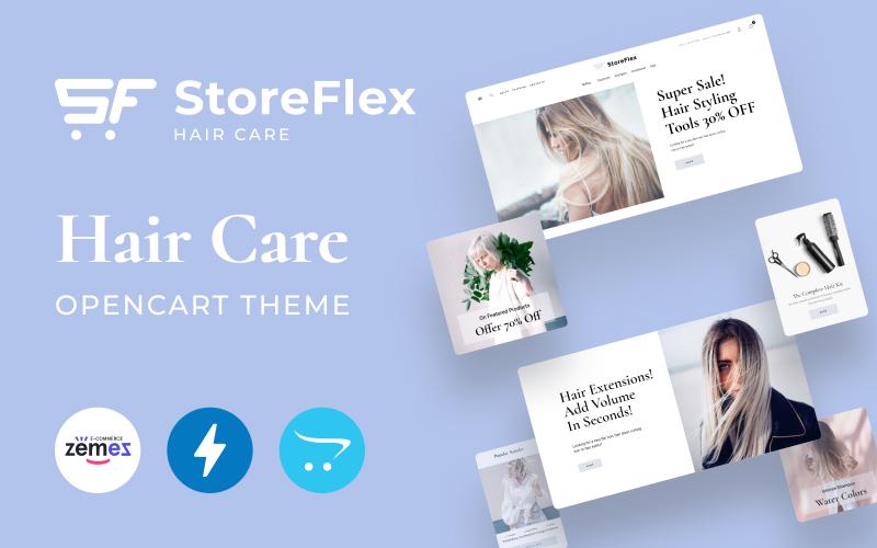 Storeflex Hair Care Online Store OpenCart Template