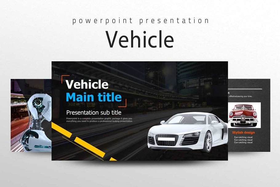 Vehicle Presentation PowerPoint Template