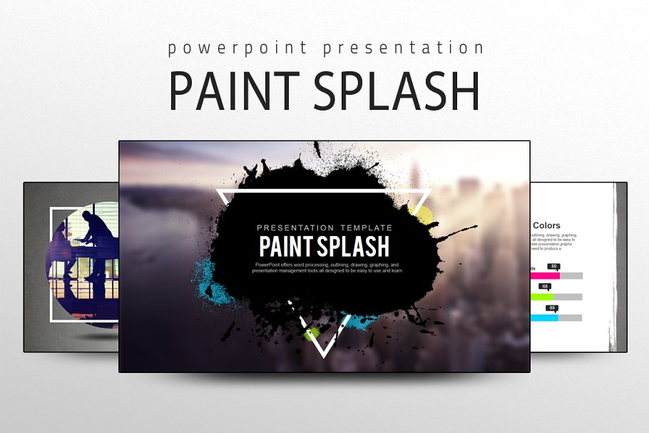 Paint Splash PPT PowerPoint Template