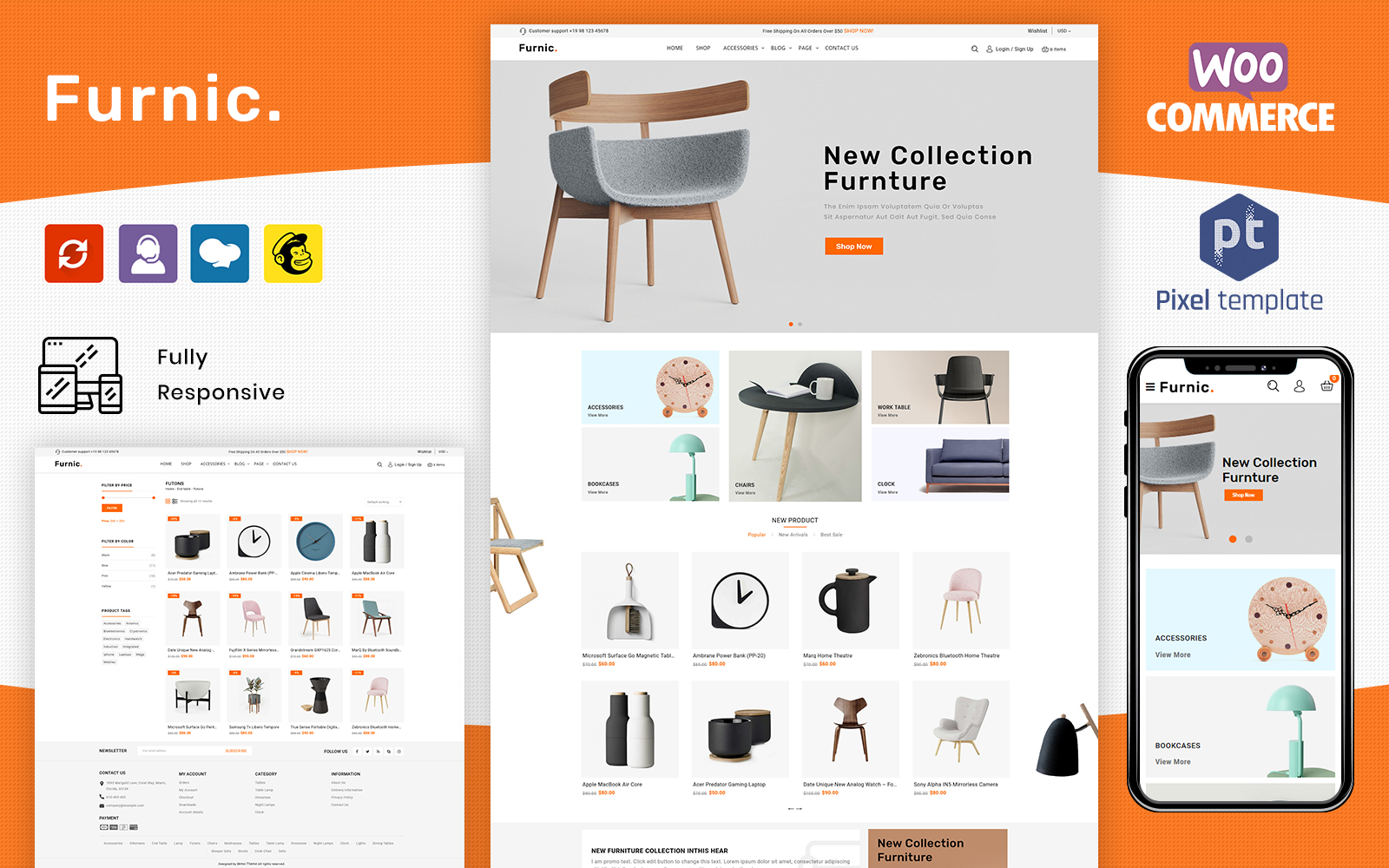 Furnic - Furniture, Handmade & Crafts Store WooCommerce Theme