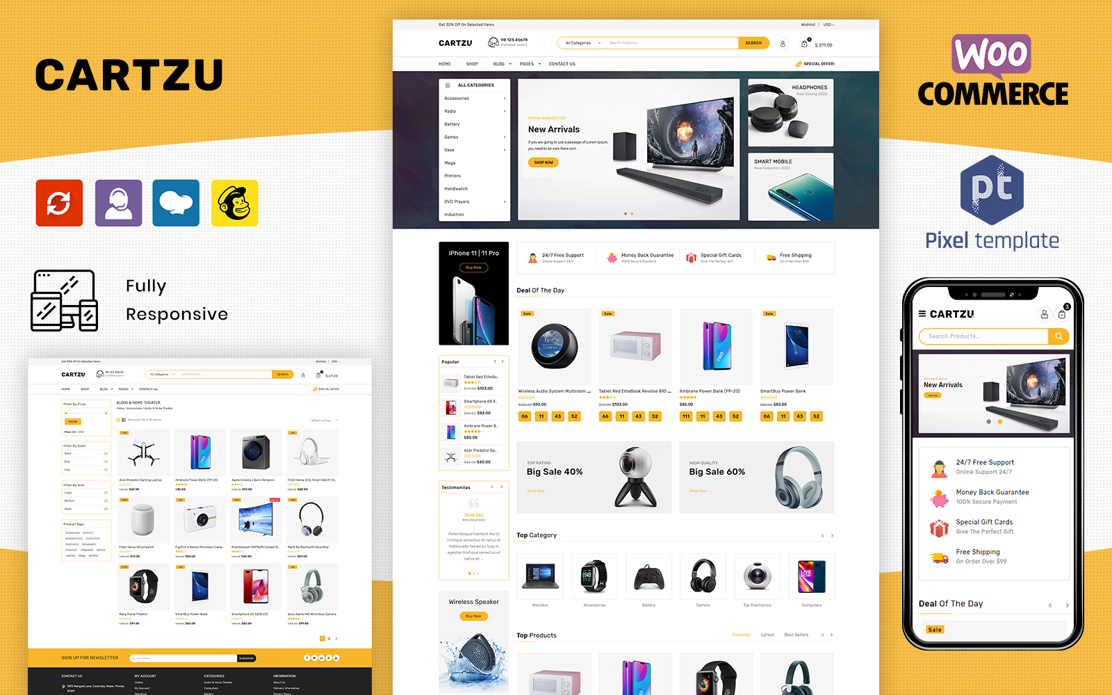 CartZu - Multipurpose Electronic Store WooCommerce Theme