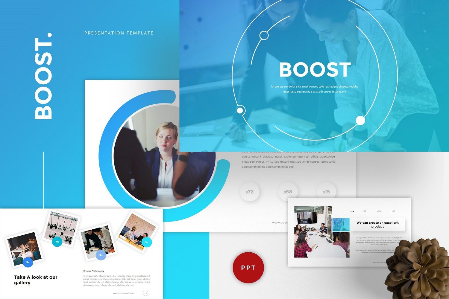 Boost - Business PowerPoint Template