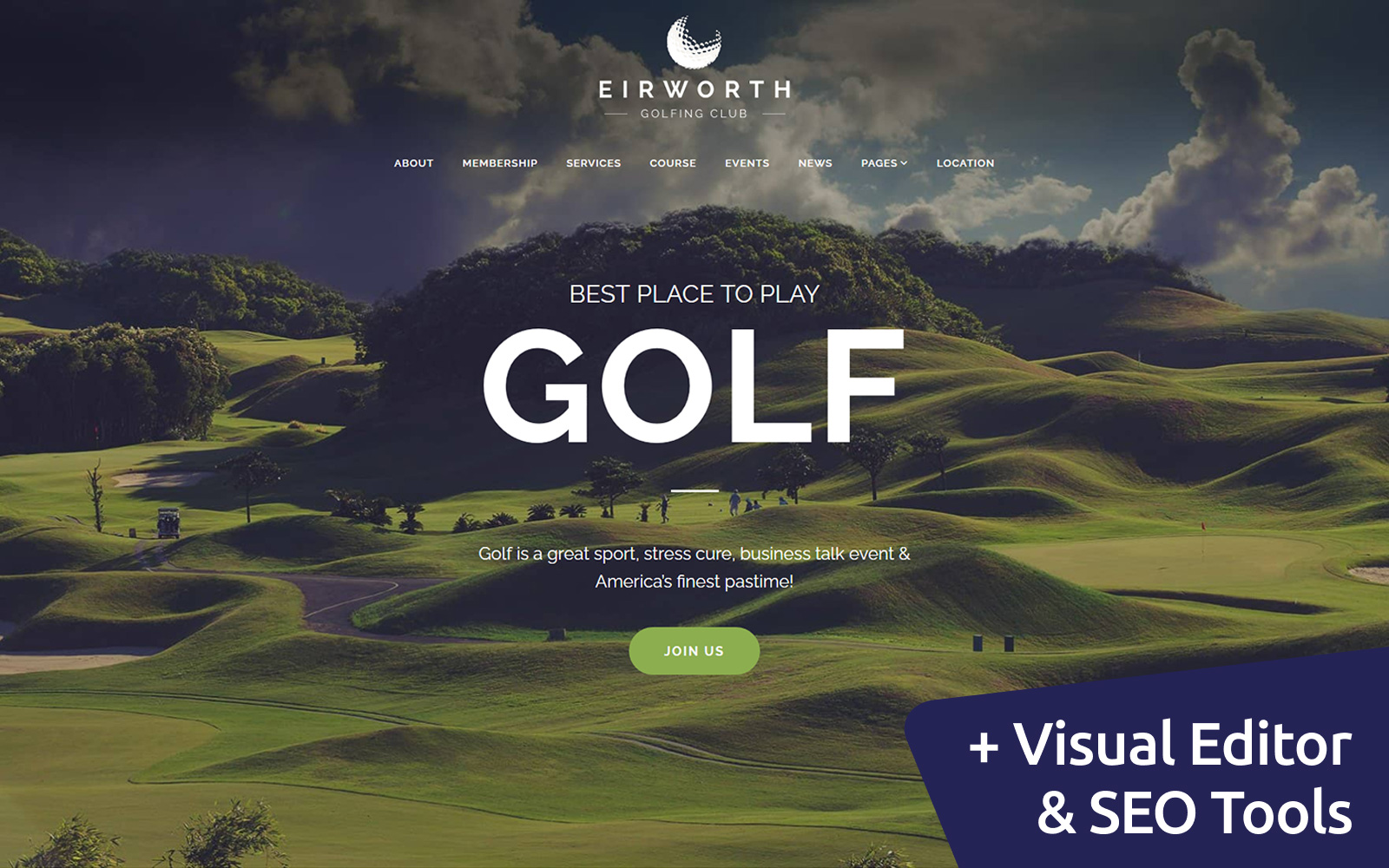 Eirworth - Golfing Club Moto CMS 3 Template