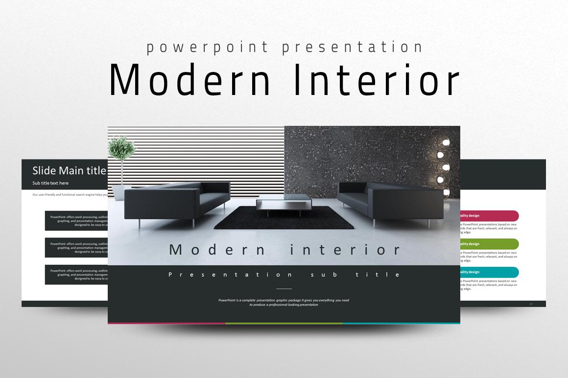Modern interior PPT PowerPoint Template