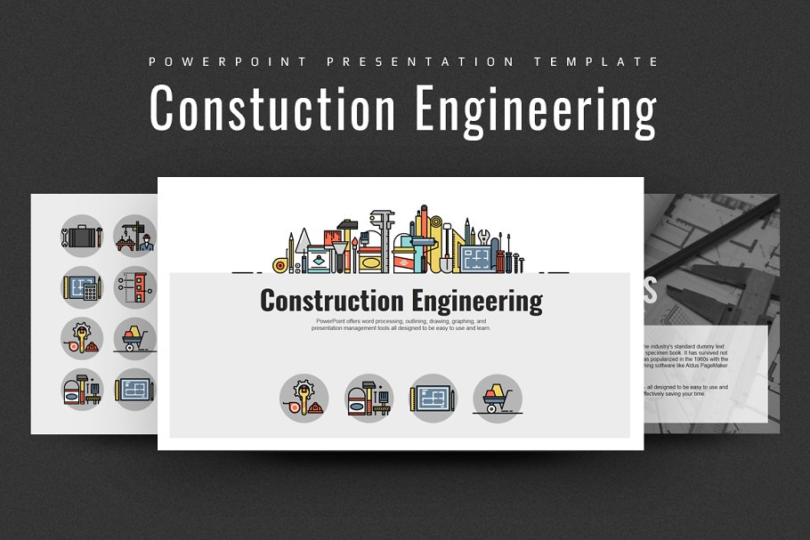 Construction Engineering PPT PowerPoint Template