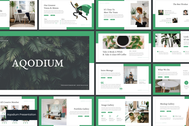 Aqodium PowerPoint Template
