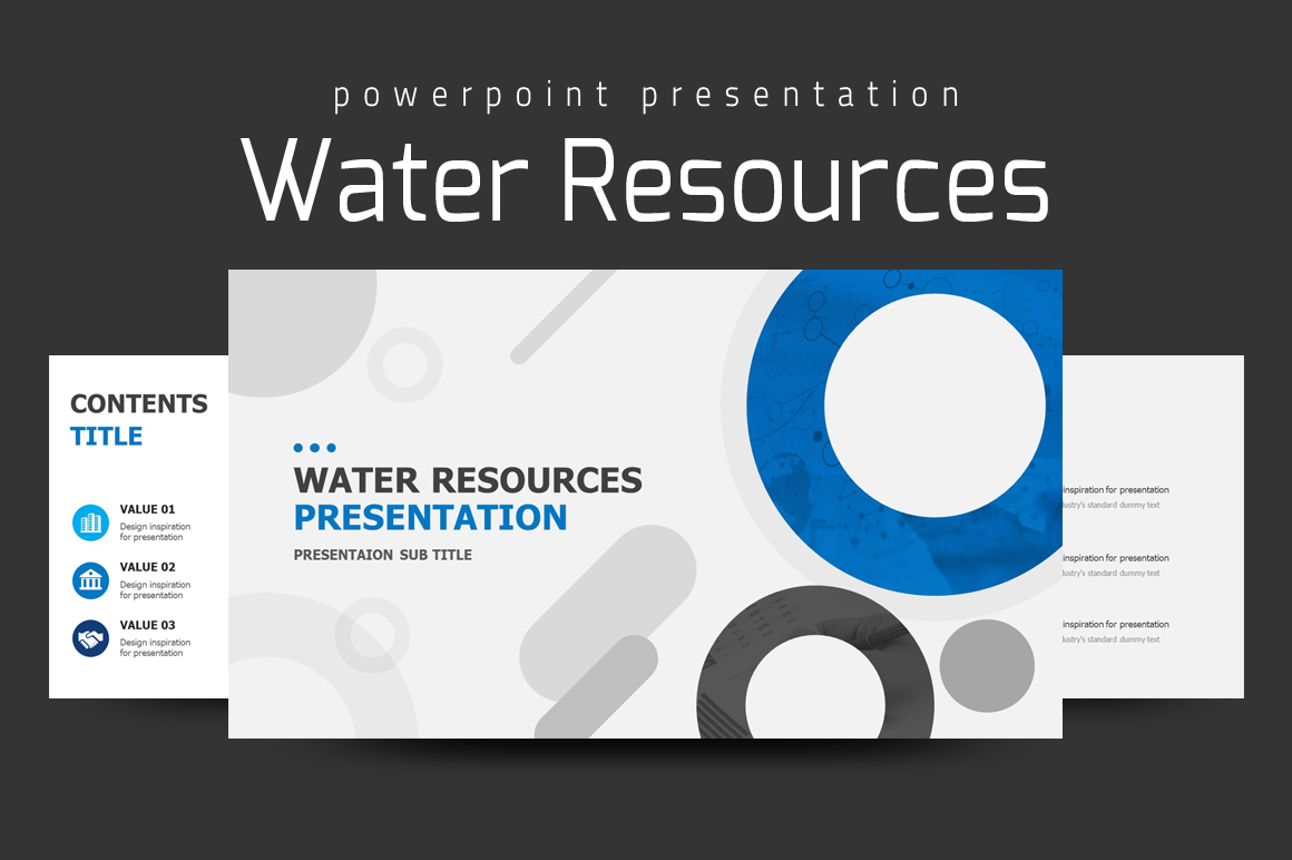 Water Resources Presentation PowerPoint Template