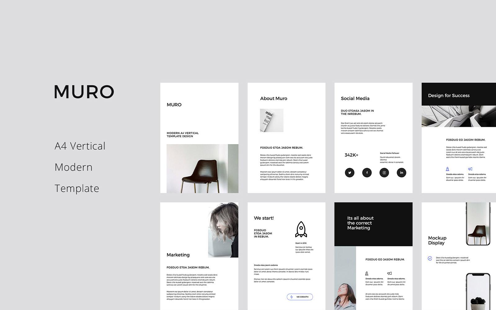 MURO - A4 Vertical PowerPoint Template