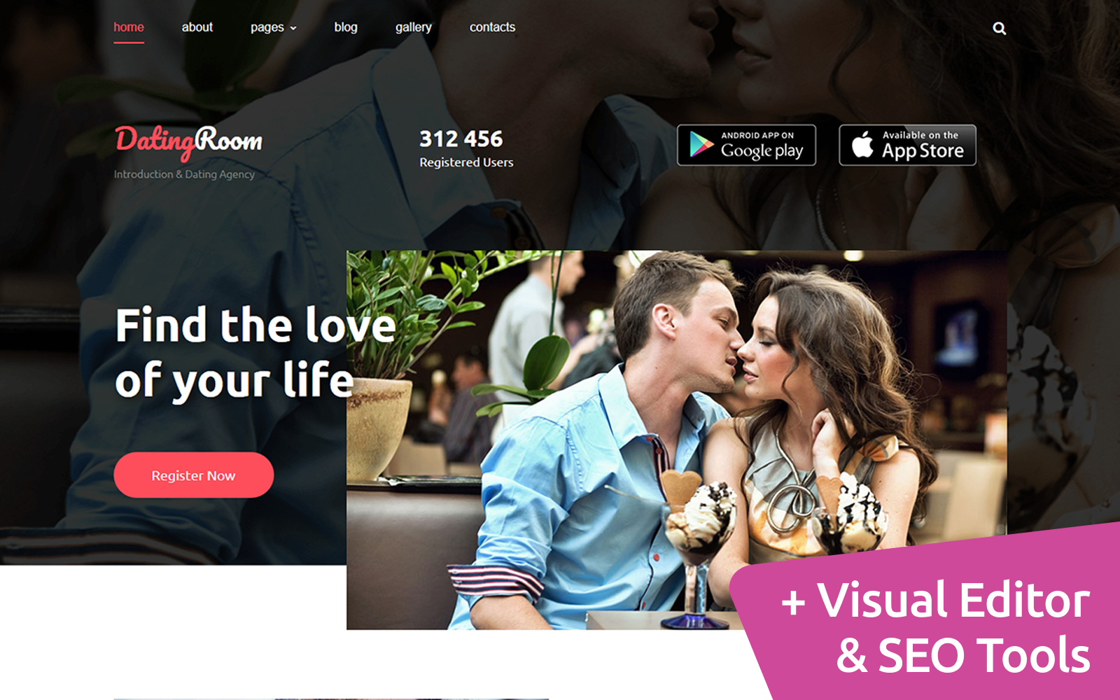 Dating & Introduction Agencies Moto CMS 3 Template
