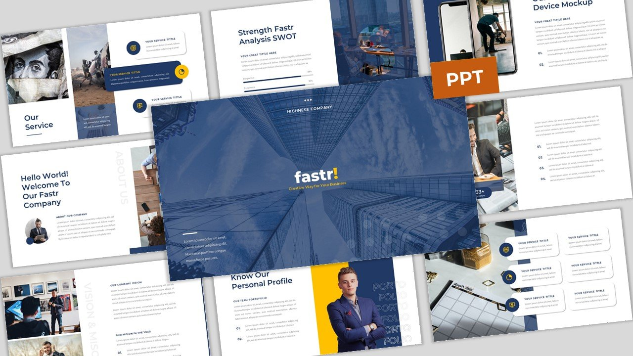 Fastr - Creative Company Business PowerPoint Template