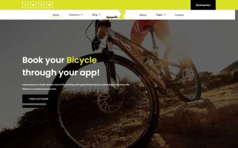 Bicycle Bootstrap Website Template