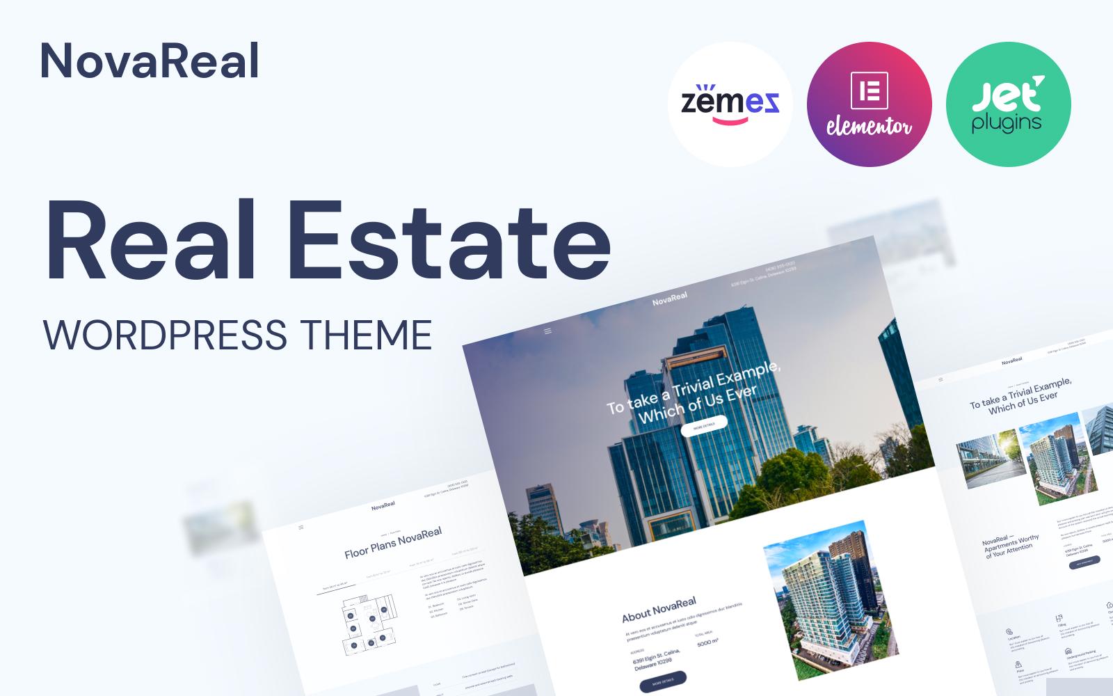 Nova Real - Real Estate Company WordPress theme