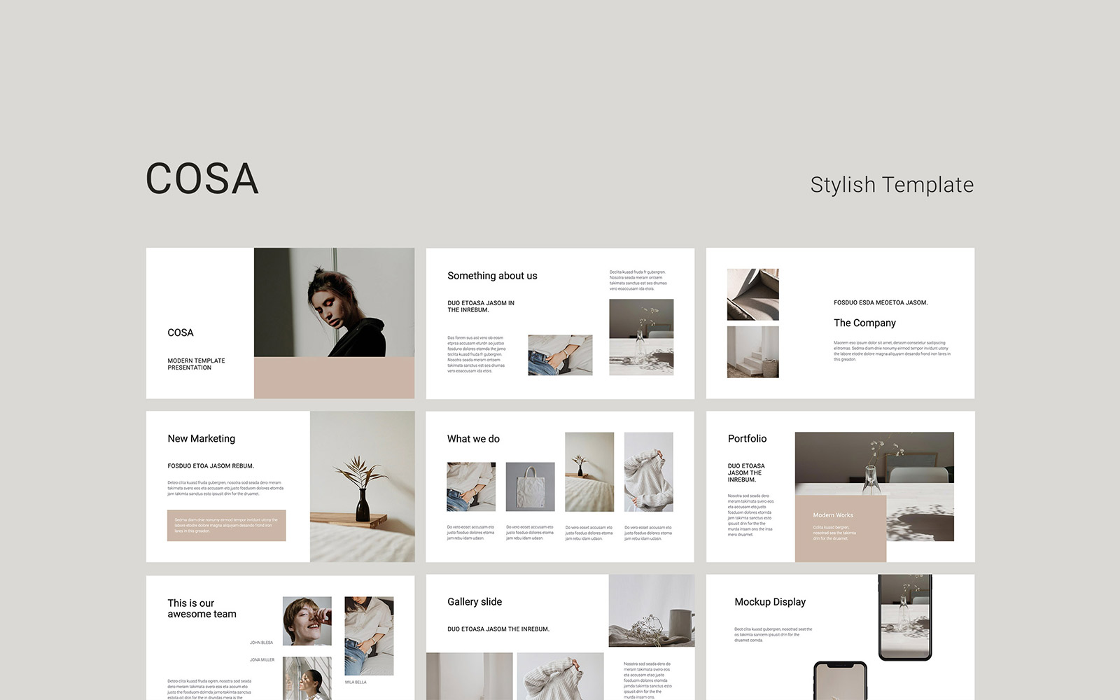 COSA - Presentation PowerPoint Template