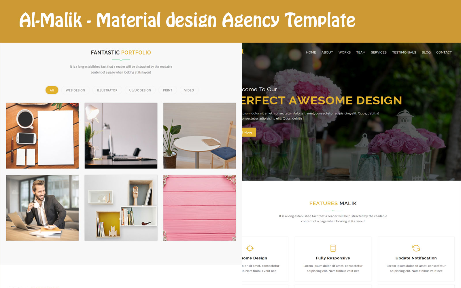 Al-Malik - Digital Agency HTML Landing Page Template
