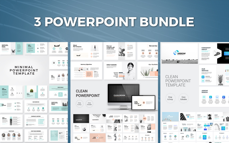 Business Presentation Bundle PowerPoint Template