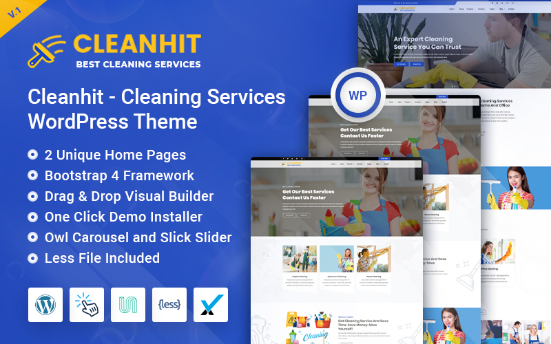 Cleanhit - Cleaning Services WordPress Theme