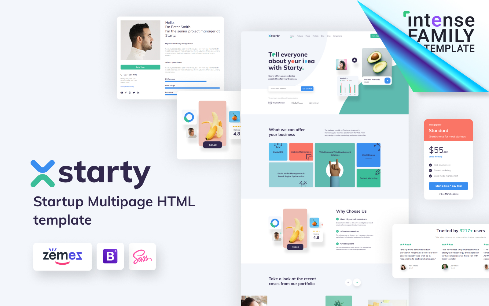 Starty - IT Startup Company Website Template