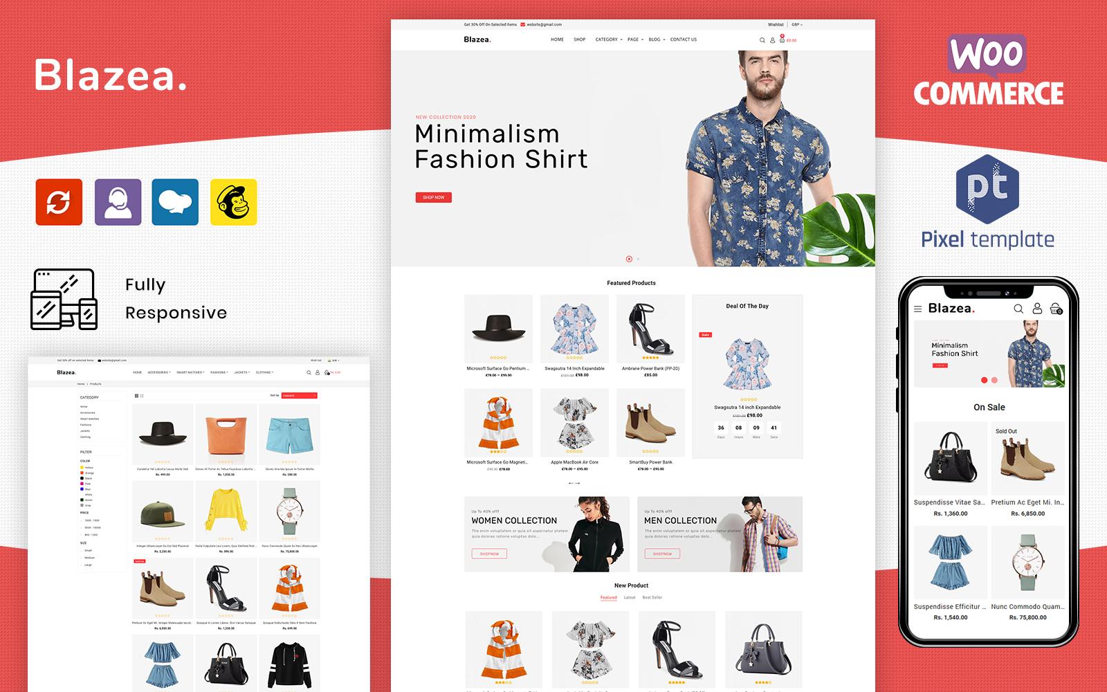 Blazea - MultiPurpose Fashion Store WooCommerce Theme