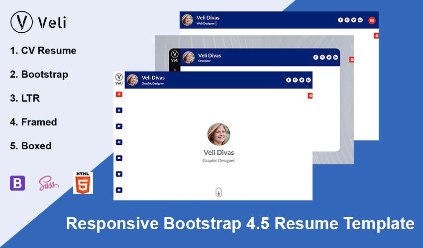 Veli | Resume / CV / vCard Landing Page Template