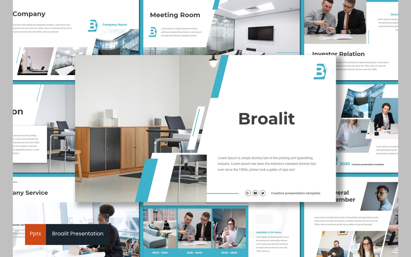 Broalit PowerPoint Template