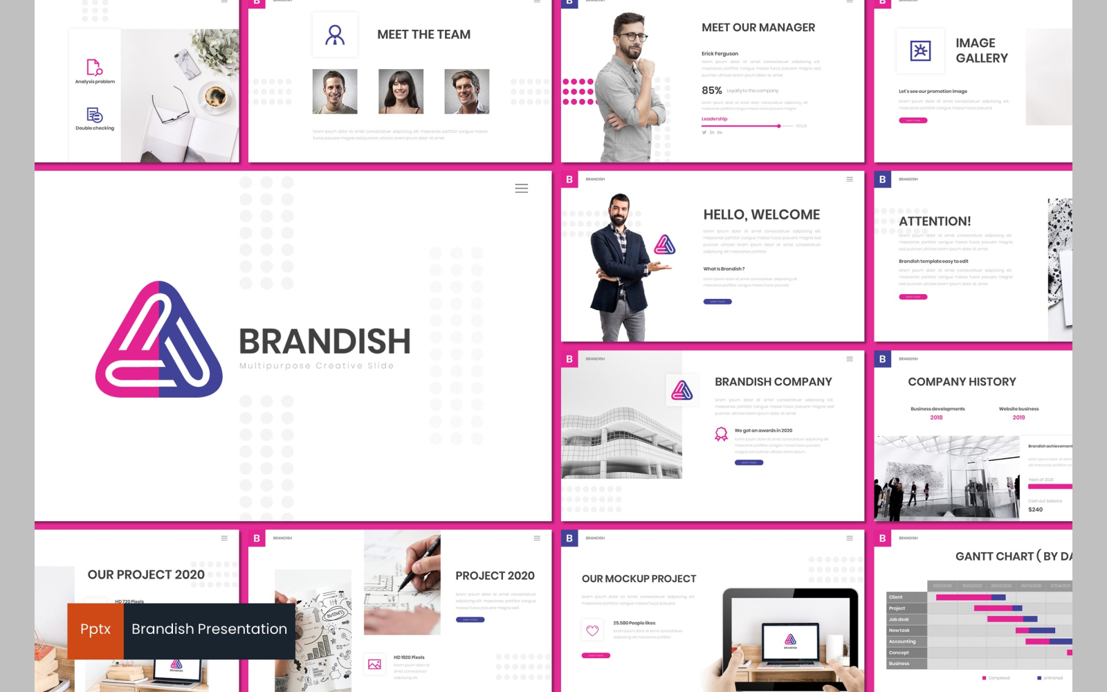 Brandish PowerPoint Template