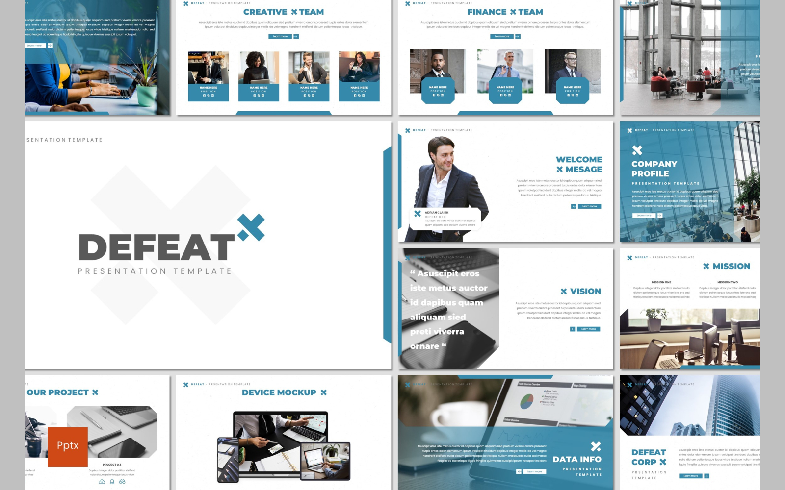 Defeat PowerPoint Template