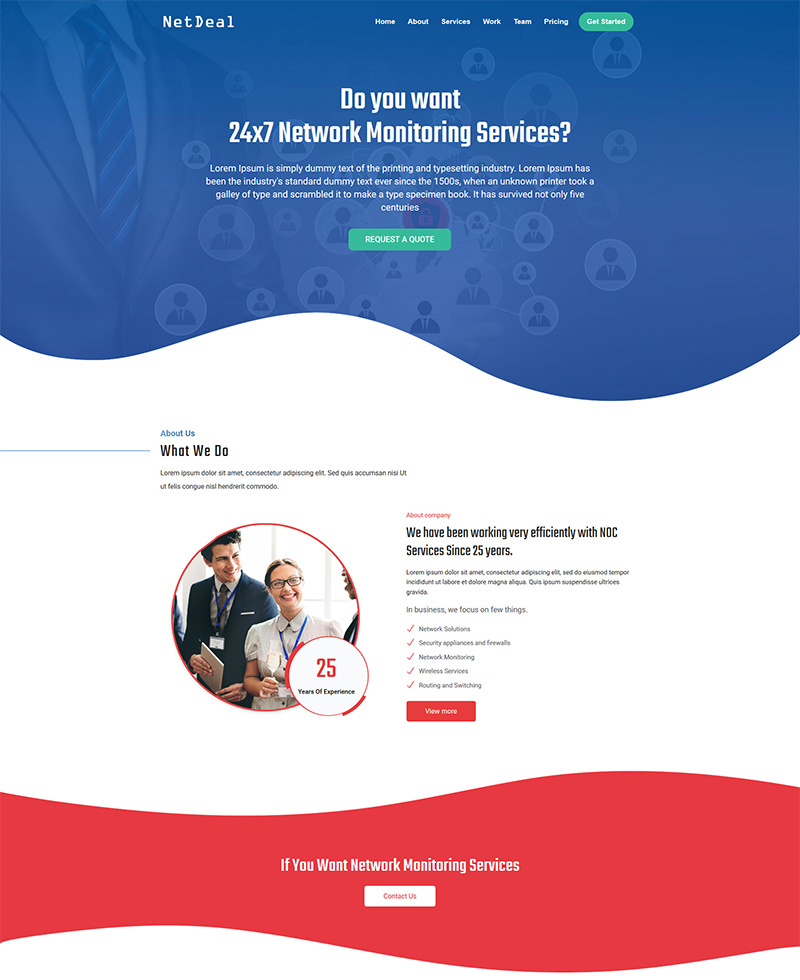 NetDeal Landing Page Template