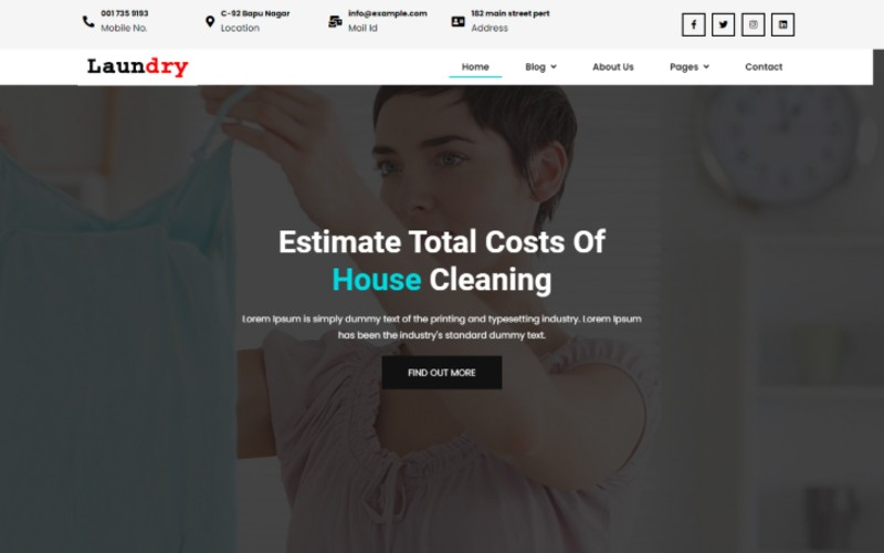 Laundry - Dry Cleaning Services Html 5 Website Template