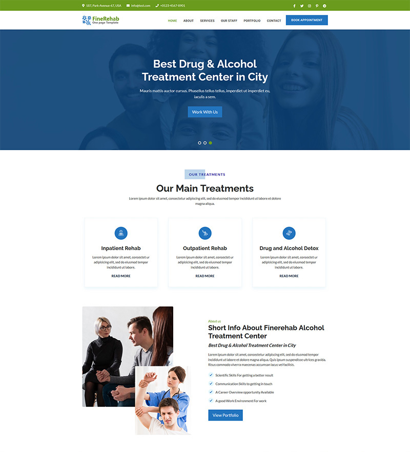 AccuRehab Landing Page Template