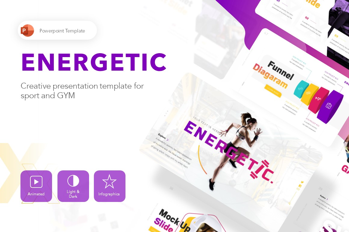 Energetic Gym Presentation PowerPoint Template