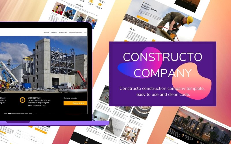 Constructo Landing Page Template