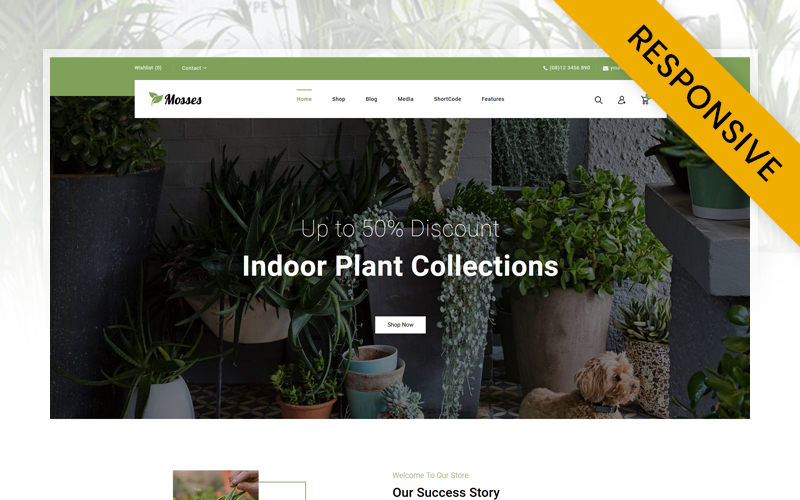 Mosses - Garden Plant Store WooCommerce Theme