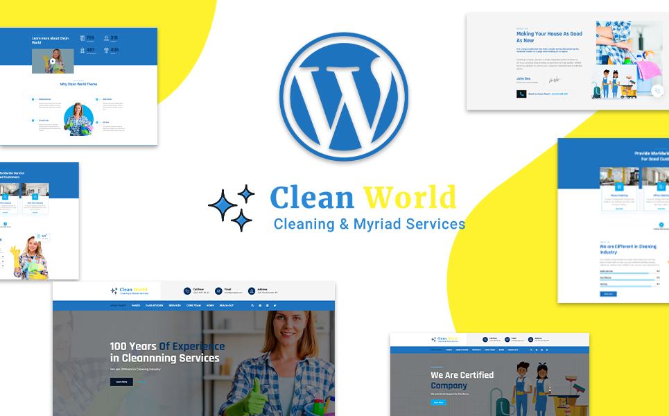 Clean World   Cleaning and Myriad Service WordPress Theme