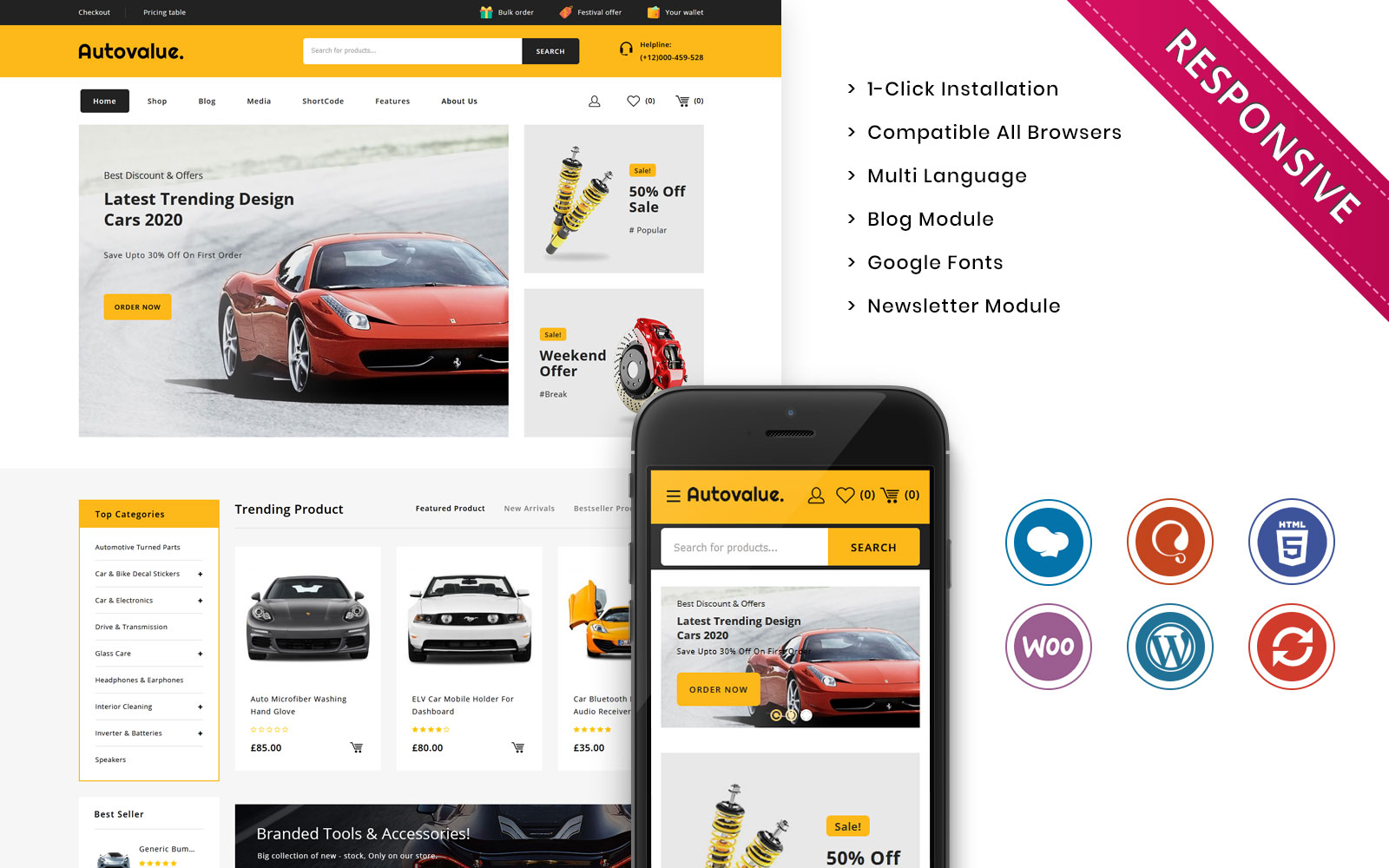 Auto value - The Automobile Store Responsive WooCommerce Theme