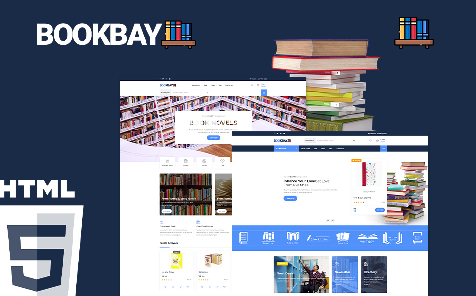 Bookbay - Book Store HTML5 Website Template