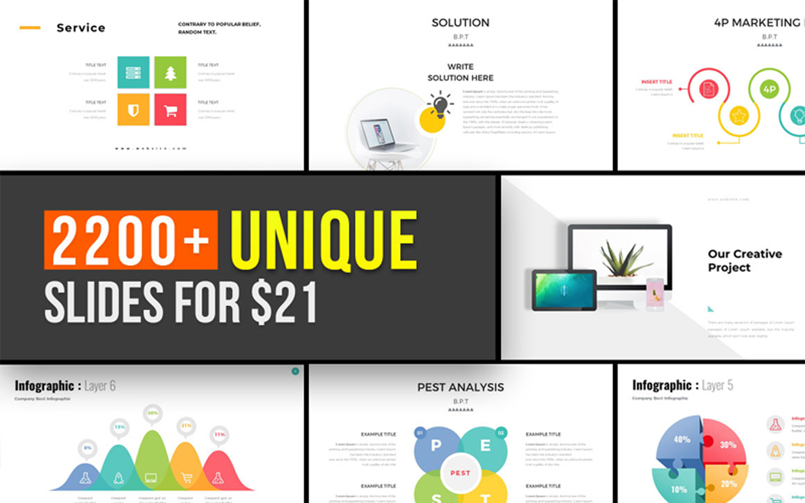 Entire Pack Presentation PowerPoint Template