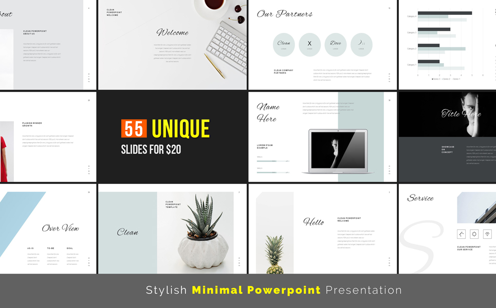 Stylish Minimal PowerPoint Template