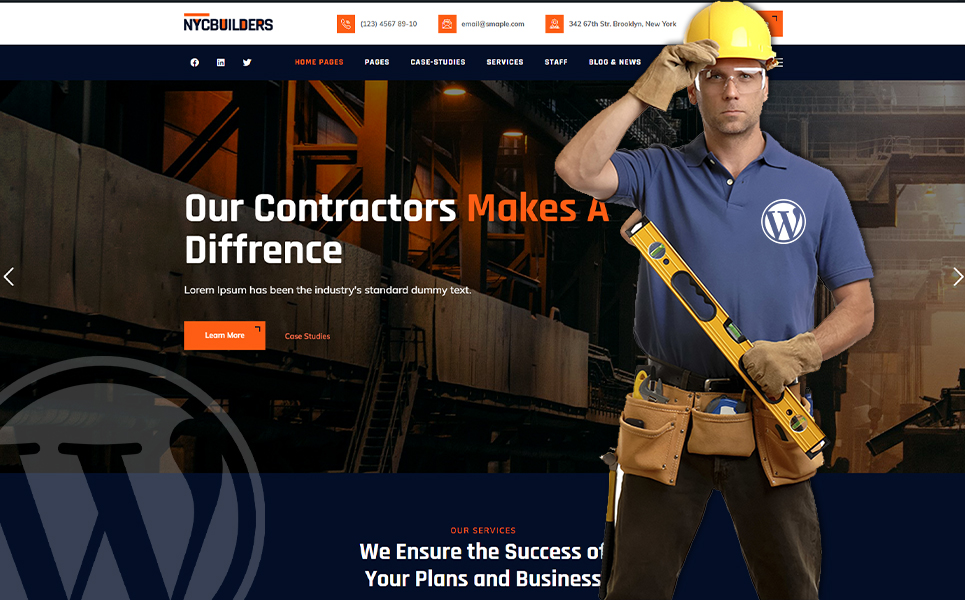 NYC Builders - Building Construction WordPress Theme